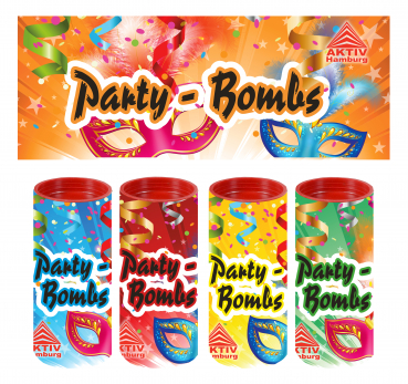 Party Bombs, 4 Tischbomben